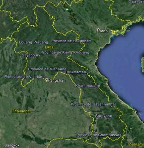 Carte Laos