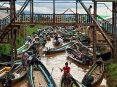 marché flottant d'Ywa-ma